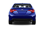 Straight rear view of 2018 Toyota Corolla XSE-AT 4 Door Sedan Rear View  stock images