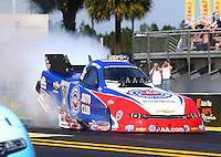 Mar 15, 2015; Gainesville, FL, USA; NHRA funny car driver Robert Hight during the Gatornationals at Auto Plus Raceway at Gainesville. Mandatory Credit: Mark J. Rebilas-