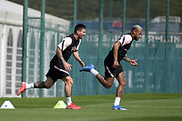 Lionel Leo Messi ( 30 - PSG ) - Neymar Jr ( 10 - PSG ) - <br /> Saint Germain en Laye 13/08/2021 <br /> Training Paris Saint Germain  <br /> Football Ligue 1 2021/2022<br /> Photo Federico Pestellini/Panoramic/insidefoto <br /> ITALY ONLY