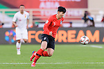Son Heungmin of South Korea in action during the AFC Asian Cup UAE 2019 Group C match between South Korea (KOR) and China (CHN)  at Al Nahyan Stadium on 16 January 2019 in Abu Dhabi, United Arab Emirates. Photo by Marcio Rodrigo Machado / Power Sport Images