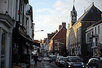 Pictured: Cardigan town centre<br /> Re: The town of Cardigan in west Wales will be temporarily renamed Jumper tomorrow (Thursday).