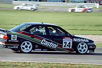 Final round of the 1991 British Touring Car Championship. #24 Julian Bailey (GB). Nissan Janspeed Racing. Nissan Primera eGT.