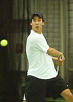 10-3-06, Netherlands, tennis, Rotterdam, National indoor junior tennis championchips, Gregory Chin A Kwie