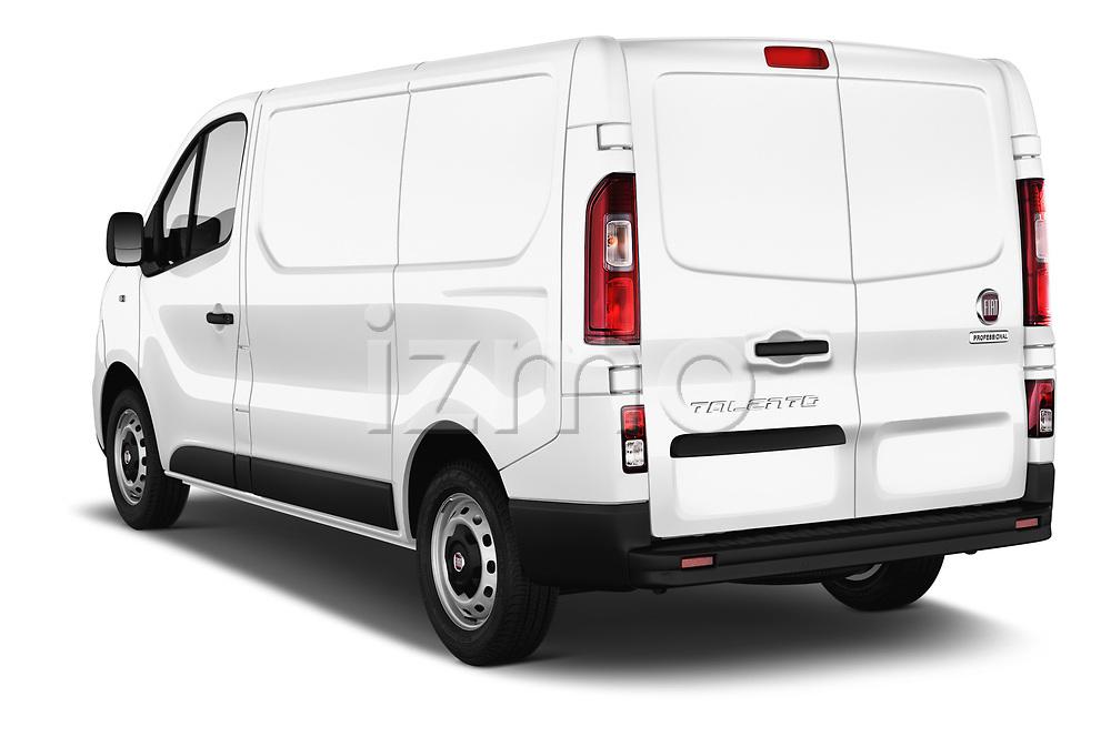 Car pictures of rear three quarter view of 2017 Fiat Talento Pack 4 Door Cargo Van Angular Rear