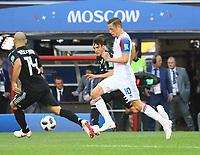 Gylfi Sigurdsson (Island, Iceland) gegen Javier Mascherano (Argentinien, Argentina) - 16.06.2018: Argentinien vs. Island, Spartak Stadium Moskau