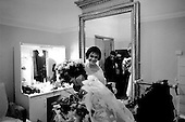 """St. Petersburg, Russia  .1998.Backstage in her dressing room Ylyana Lopatkina is covered in flowers after her opening performance of """"The Young Man and Death"""" a production by Francois Andrei at the Mariinsky Theater.."""