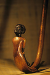 Staff with handle in shape of a Nubian captive, KV 62, Tutankhamun and the Golden Age of the Pharaohs, Page 189