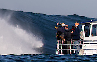 Half Moon Bay - Ca, Sunday, January 20, 2013: Over view of the 2013 Mavericks Invitational..