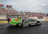 Mar. 10, 2012; Gainesville, FL, USA; NHRA funny car driver Bob Bode during qualifying for the Gatornationals at Auto Plus Raceway at Gainesville. Mandatory Credit: Mark J. Rebilas-