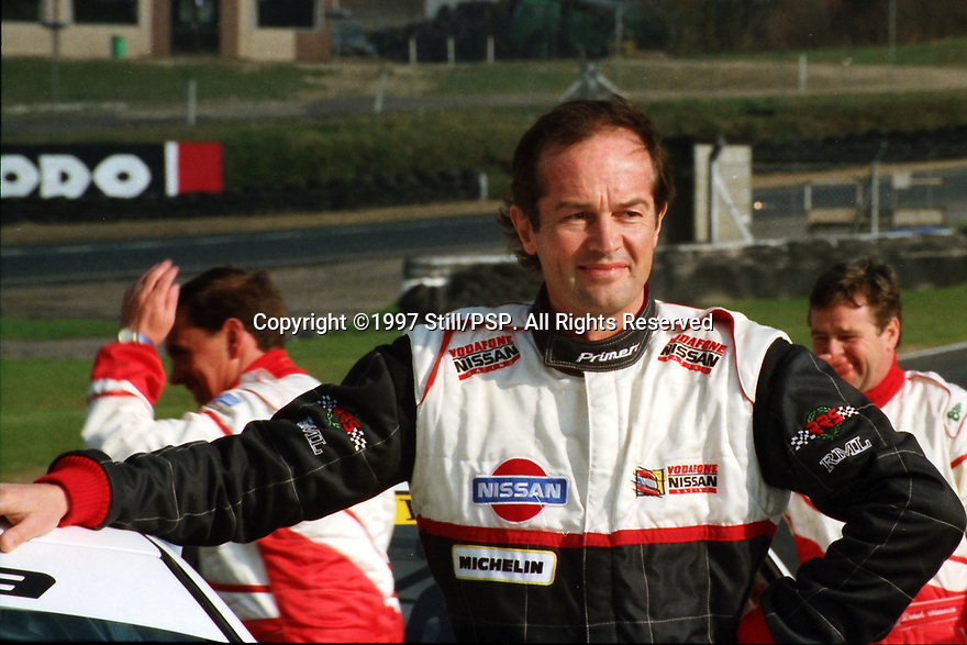 1997 British Touring Car Championship media day. #23 Anthony Reid (GBR). Vodafone Nissan Racing. Nissan Primera.
