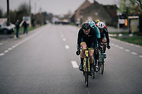 Pim Ligthart (NED/Direct Energie) being very active in the day's breakaway<br /> <br /> 71th Kuurne-Brussel-Kuurne 2019 <br /> Kuurne to Kuurne (BEL): 201km<br /> <br /> ©kramon