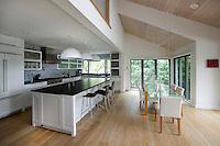 Modern New England style open plan kitchen