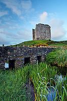 Minard Castle above sandstone bridge over small creek, Dingle Peninsula, County Kerry, Republic of Ireland