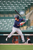 GCL Twins second baseman Hunter Lee (89) at bat during the first game of a doubleheader against the GCL Orioles on August 1, 2018 at CenturyLink Sports Complex Fields in Fort Myers, Florida.  GCL Twins defeated GCL Orioles 7-6 in the completion of a suspended game originally started on July 31st, 2018.  (Mike Janes/Four Seam Images)