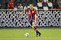 KANSAS CITY, KS - JULY 15: James Sands #16 of the United States with the ball during a game between Martinique and USMNT at Children's Mercy Park on July 15, 2021 in Kansas City, Kansas.