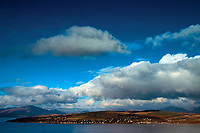 Rhu, the Firth of Clyde and the Southern Highlands from Tower Hill, Gourock, Inverclyde