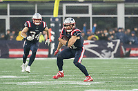 FOXBOROUGH, MA - OCTOBER 27: New England Patriots Wide Receiver Julian Edelman #11 prepares to run after a catch in the open during a game between Cleveland Browns and New Enlgand Patriots at Gillettes on October 27, 2019 in Foxborough, Massachusetts.