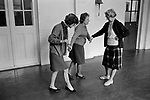 Blind and partially sighted dance class for senior citizens at the Battersea Institute, South London 1970 UK.  Darby and Joan Club.