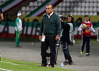 MANIZALES -COLOMBIA, 10-07-2016. Jorge Luis Bernal director técnico de Alianza Petrolera durante su encuentro contra el Once Caldas    por la fecha 2 de la Liga Aguila II 2016 disputado en el estadio Palogrande./  Jorge Luis Bernal Coach of Alianza Petrolera in actions against Once Caldas.Action game between  Once Caldas and Alianza Petrolera  during match for the date 2 of the Aguila League II 2016 played at Palogrande stadium . Photo:VizzorImage / Santiago Osorio / Contribuidor