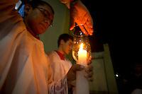 Procissão em homenagem a São João Batista em Icoaraci.<br /> Icoaraci, Belém, Pará, Brasil.<br /> Foto Paulo Santos<br /> 24/06/2013