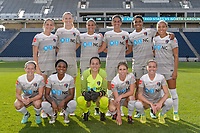 Bridgeview, IL - Sunday September 03, 2017: North Carolina Courage Starting XI during a regular season National Women's Soccer League (NWSL) match between the Chicago Red Stars and the North Carolina Courage at Toyota Park. The Red Stars won 2-1.