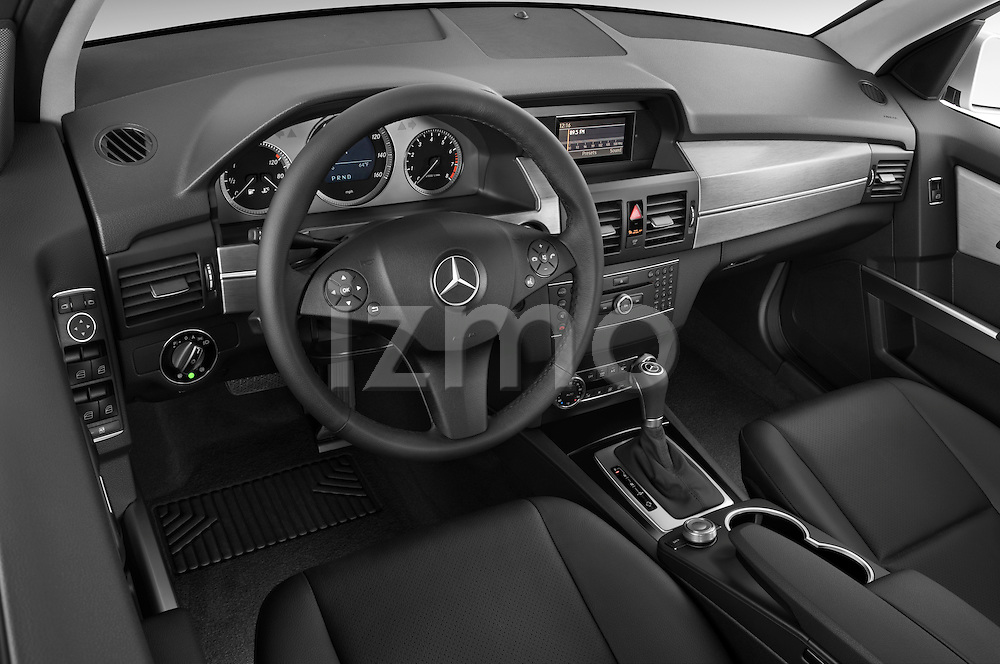 High angle dashboard view of a 2010 Mercedes GLK Class 350