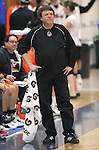 Douglas Coach Werner Christen watches the girls basketball game against Carson High School on Friday, Jan. 27, 2012. Carson won 43-28..Photo by Cathleen Allison