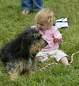 Madaleine Rowland and Shaggy at Radnor, 2005.