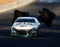 Jul 28, 2017; Sonoma, CA, USA; NHRA pro stock driver Deric Kramer during qualifying for the Sonoma Nationals at Sonoma Raceway. Mandatory Credit: Mark J. Rebilas-USA TODAY Sports