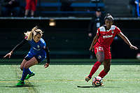 Seattle, WA - Saturday May 13, 2017: Cheyna Williams during a regular season National Women's Soccer League (NWSL) match between the Seattle Reign FC and the Washington Spirit at Memorial Stadium.