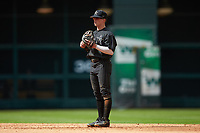 Vanderbilt Commodores second baseman Ethan Paul (10) on defense against the Sam Houston State Bearkats in game one of the 2018 Shriners Hospitals for Children College Classic at Minute Maid Park on March 2, 2018 in Houston, Texas. The Bearkats walked-off the Commodores 7-6 in 10 innings.   (Brian Westerholt/Four Seam Images)