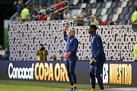 KANSAS CITY, KS - JULY 15: Brad Guzan #22 of the United States warming up before a game between Martinique and USMNT at Children's Mercy Park on July 15, 2021 in Kansas City, Kansas.