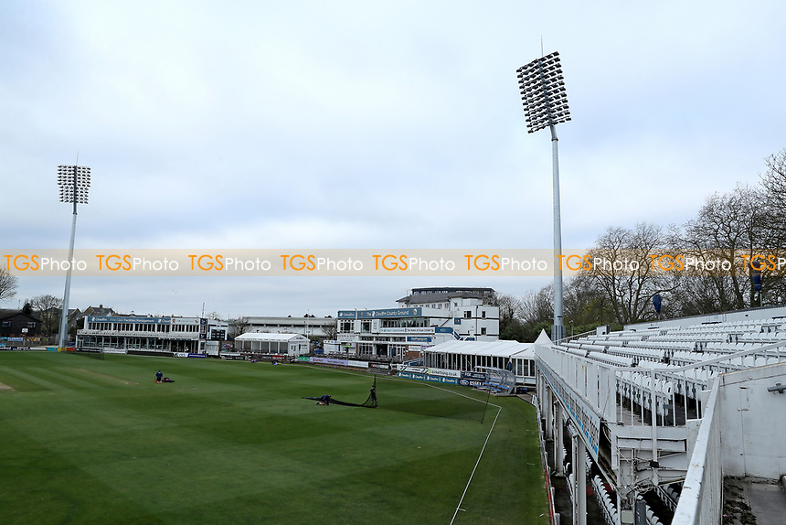 General view of the ground prior to Essex CCC vs Kent CCC, Friendly Match Cricket at The Cloudfm County Ground on 29th March 2021