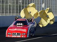 Nov. 9, 2012; Pomona, CA, USA: NHRA funny car driver Johnny Gray during qualifying for the Auto Club Finals at at Auto Club Raceway at Pomona. Mandatory Credit: Mark J. Rebilas-