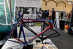 Cyfac stand at Bespoked 2018 UK handmade bicycle show held at Brunel's Old Station & Engine Shed, Bristol, England. 21st April 2018.<br /> Picture: Eoin Clarke | Cyclefile<br /> <br /> <br /> All photos usage must carry mandatory copyright credit (© Cyclefile | Eoin Clarke)