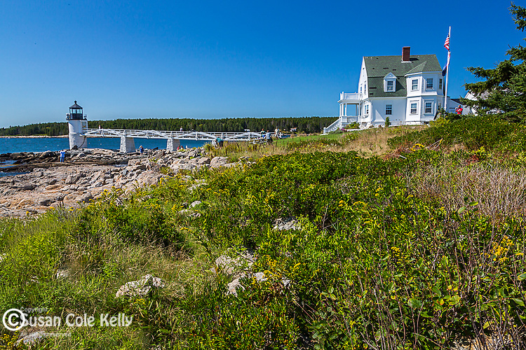 Marshall Point Light in Port Clyde village, St George, Maine, USA