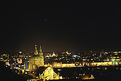 Prague, Czech Republic; the city by night.