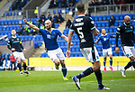 St Johnstone v Dundee…02.10.21  McDiarmid Park.    SPFL<br />Chris Kane celebrates his goal<br />Picture by Graeme Hart.<br />Copyright Perthshire Picture Agency<br />Tel: 01738 623350  Mobile: 07990 594431