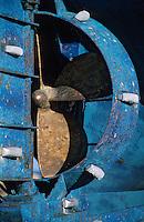 Europe/France/Bretagne/29/Finistère/Le Guilvinec: Bateau de pêche en carenage - Détail hélice