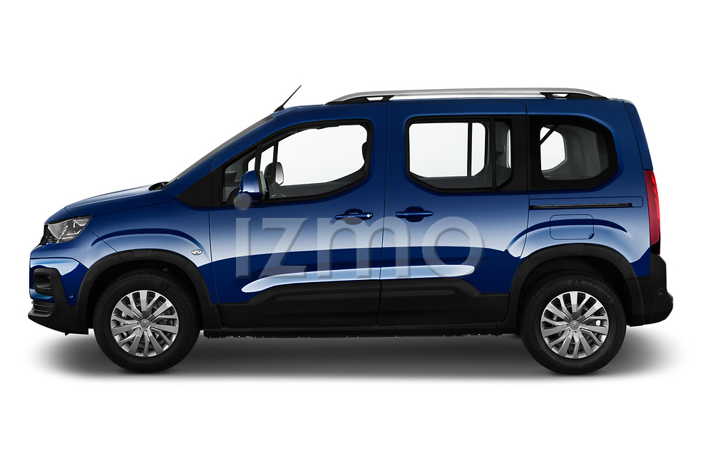 Car Driver side profile view of a 2019 Peugeot Rifter Allure Door Mini Mpv Side View