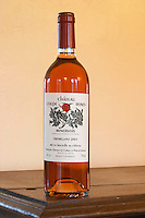 Chateau Coupe Roses, La Caunette. Fremillant rose. Minervois. Languedoc. France. Europe. Bottle.
