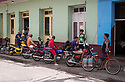27/07/18<br /> <br /> Motorcycle (including Chinese yellow electric scooter), Trinidad, Cuba.<br /> <br /> All Rights Reserved, F Stop Press Ltd. (0)1335 344240 +44 (0)7765 242650  www.fstoppress.com rod@fstoppress.com