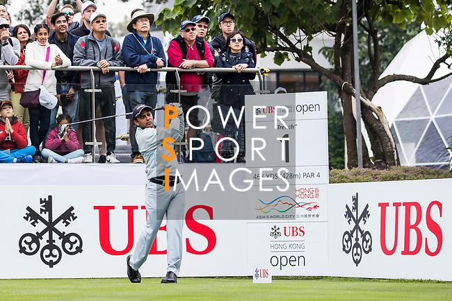 S.S.P. Chawrasia of India tees off during the day three of UBS Hong Kong Open 2017 at the Hong Kong Golf Club on 25 November 2017, in Hong Kong, Hong Kong. Photo by Yu Chun Christopher Wong / Power Sport Images