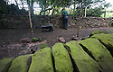 "24/05/16 <br /> <br /> Andrew Brown-Jackson painstakingly restores the wall.<br /> <br /> A mammouth restoration project, that could take up to twenty years to complete, is underway on the forgotten ancient stone walls that were once part of an intriguing track way, which pre-dates the railways.<br /> <br /> FULL STORY HERE:  http://www.fstoppress.com/articles/forgotten-stone-walls-set-for-restoration/<br /> <br /> .Imagine a giant 3D jigsaw puzzle with no instructions, and you have an idea of the challenge facing  these traditional dry-stone wallers, who are hard at work restoring the Cauldon Plateway, a relic of Staffordshire's industrial history.<br /> <br /> It's back-breaking work, as each stone has to be returned as close as possible to its original position according to weight and size, with bigger, heavier stones towards the bottom and a rounded ""coping"" stone at the very top.<br /> <br /> All Rights Reserved: F Stop Press Ltd. +44(0)1335 418365   +44 (0)7765 242650 www.fstoppress.com"