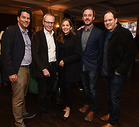 PASADENA, CA - JANUARY 17: (L-R) Race to the Center of the Earth Co-Executive Producer Kirk Durham, Co-Creators/Executive Producers Bertram van Munster and Elise Doganieri, Director of Photography Josh Gitersonke, and Co-Executive Producer Darren Bunkley attend the National Geographic 2020 TCA Winter Press Tour Party at the Langham Huntington on January 17, 2020 in Pasadena, California. (Photo by Frank Micelotta/National Geographic/PictureGroup)
