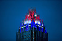 Photography of the Bank of America Corporate Center Tower, in Uptown/Downtown Charlotte, North Carolina. <br /> <br /> Charlotte Photographer - PatrickSchneiderPhoto.com