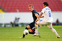 GUADALAJARA, MEXICO - MARCH 28: Jackson Yueill #6 of the United States turns and moves with the ball during a game between Honduras and USMNT U-23 at Estadio Jalisco on March 28, 2021 in Guadalajara, Mexico.