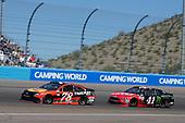 2017 Monster Energy NASCAR Cup Series<br /> Camping World 500<br /> Phoenix International Raceway, Avondale, AZ USA<br /> Sunday 19 March 2017<br /> Martin Truex Jr, Bass Pro Shops/TRACKER BOATS Toyota Camry Kurt Busch<br /> World Copyright: Matthew T. Thacker/LAT Images<br /> ref: Digital Image 17PHX1mt1553