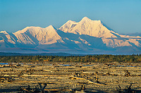 Mount Hayes of the Alaska Range mountains, Tanana River, Delta Junction, Alaska