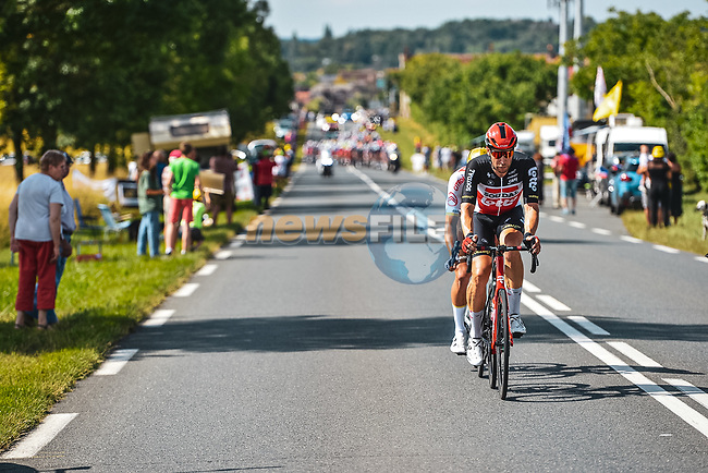 The breakaway with Roger Kluge (GER) Lotto-Soudal and Greg Van Avermaet (BEL) AG2R Citroen Team during Stage 6 of the 2021 Tour de France, running 160.6km from Tours to Chateauroux, France. 1st July 2021.  <br /> Picture: A.S.O./Charly Lopez | Cyclefile<br /> <br /> All photos usage must carry mandatory copyright credit (© Cyclefile | A.S.O./Charly Lopez)